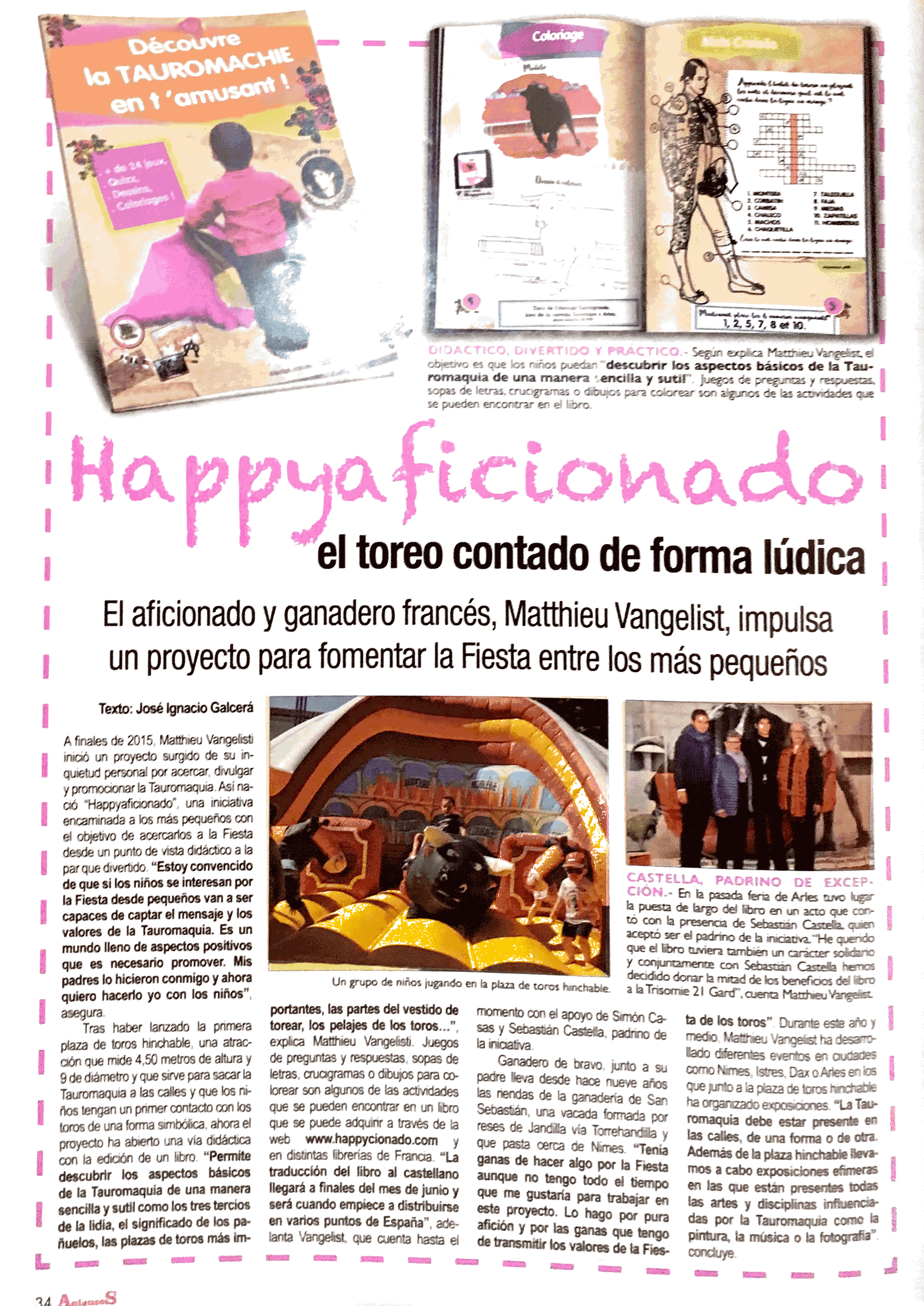 Article Happycionado sur Aplausos